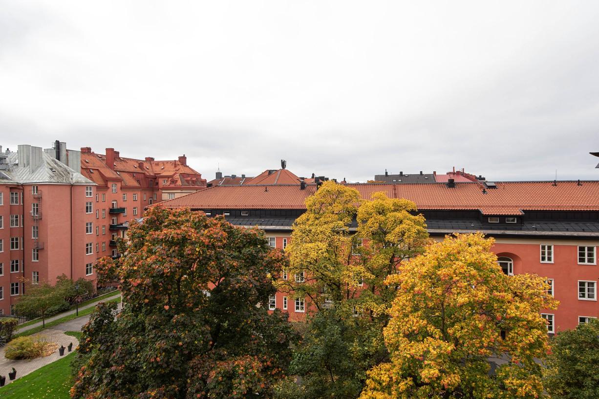 Grönskande vackra trädgårdar Torsgatan 59, 5 tr / Karlbergsvägen