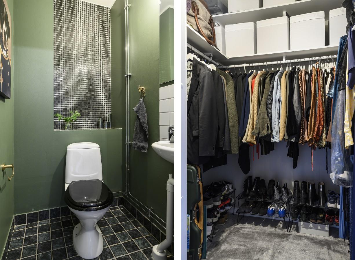 Gäst-wc och walk in closet Hantverkargatan 7
