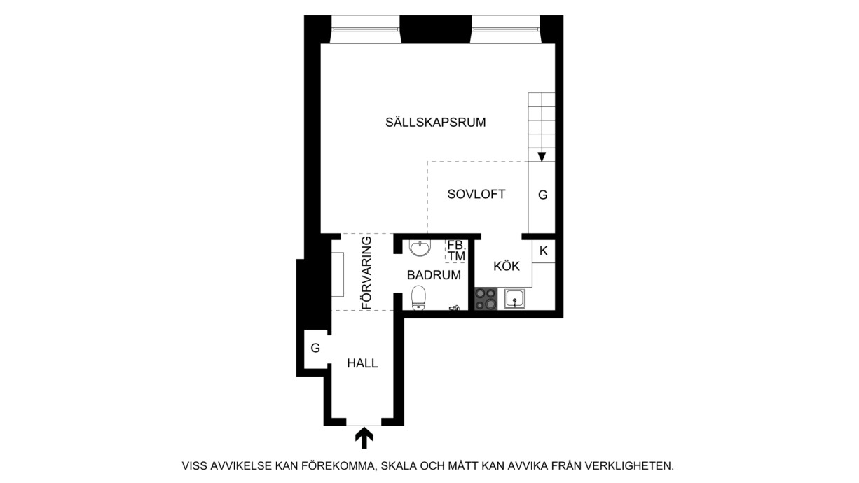 Planritning Drottninghusgränd 2
