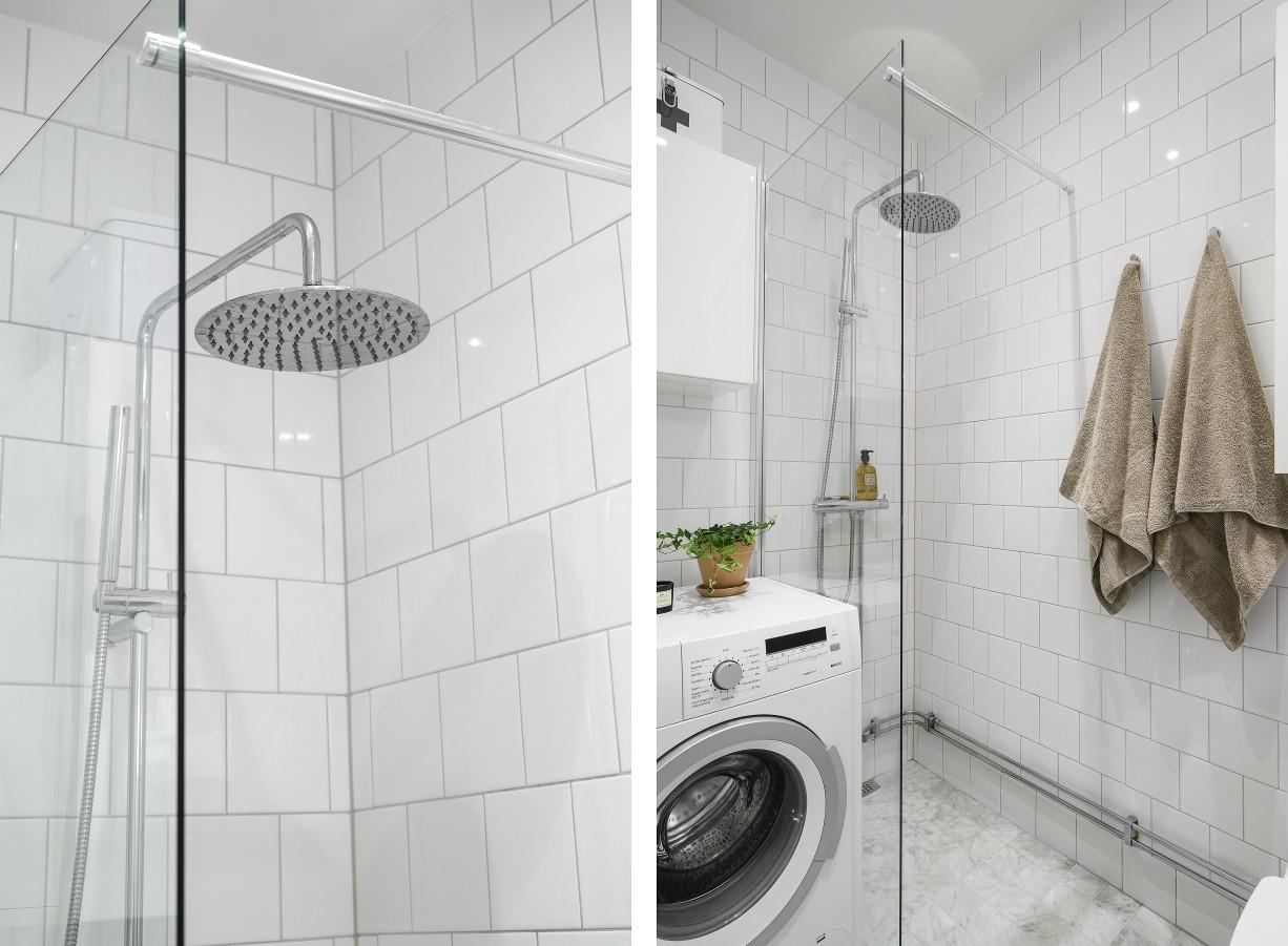 Stilrent badrum med hotellkänsla Lundagatan 52