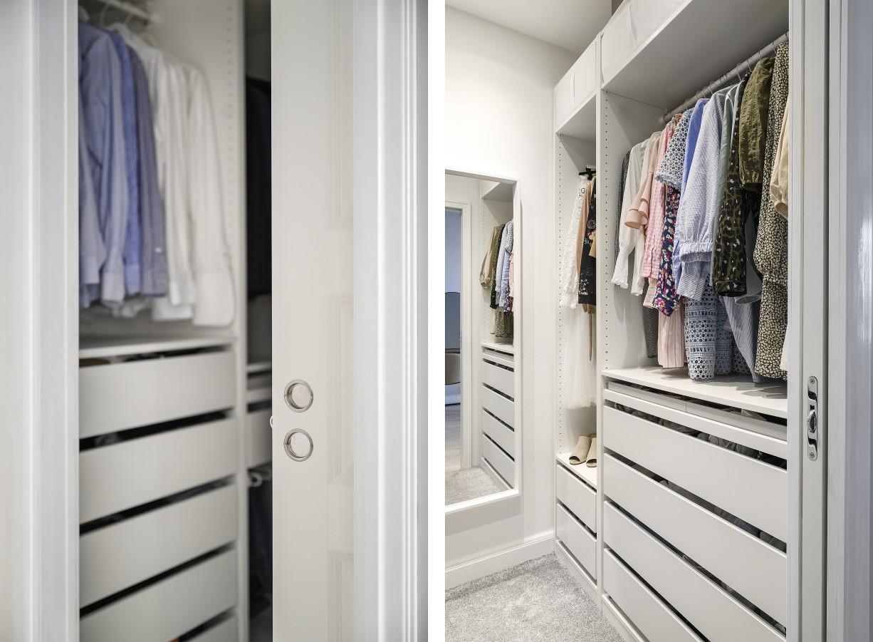 Väldisponerad walk-in-closet Lundagatan 52