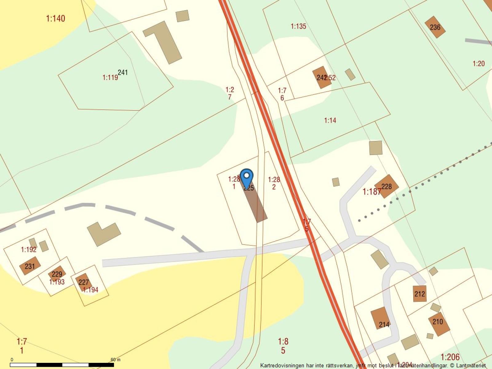 Fastighetskarta Klippen 225