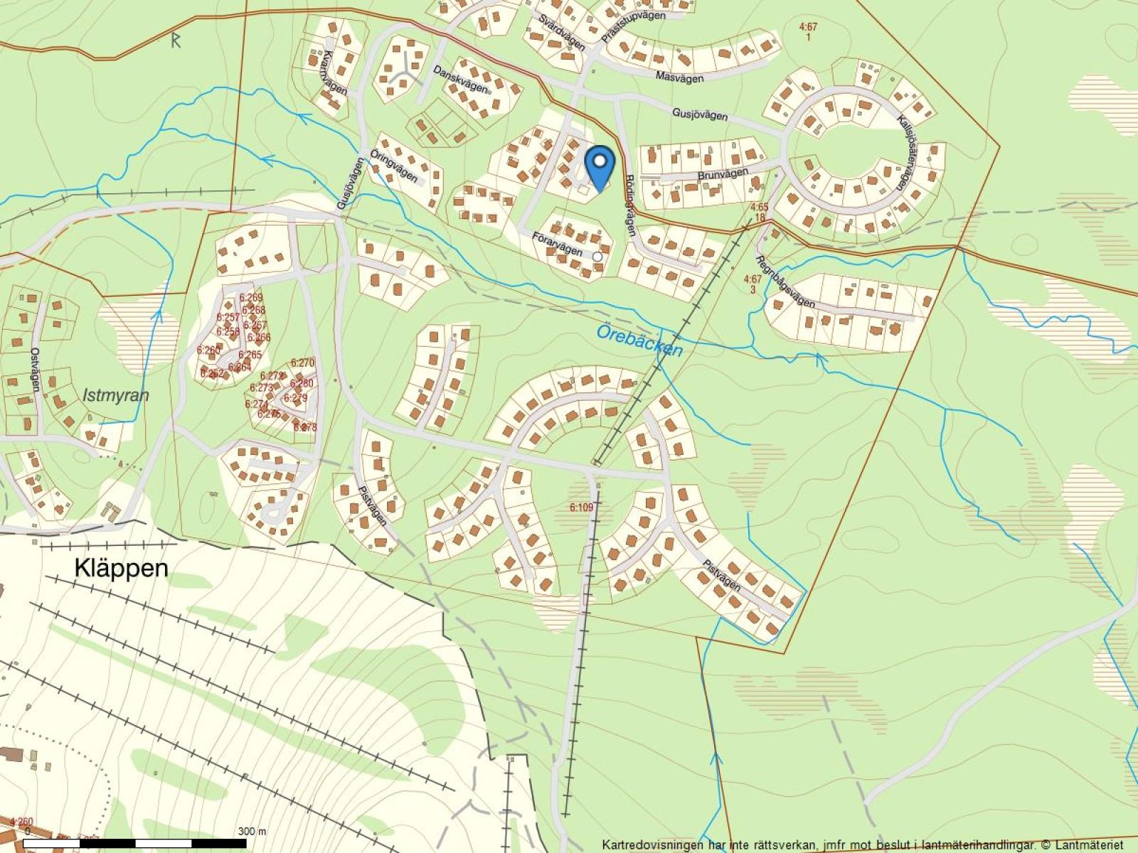 Fastighetskarta Förarvägen 6