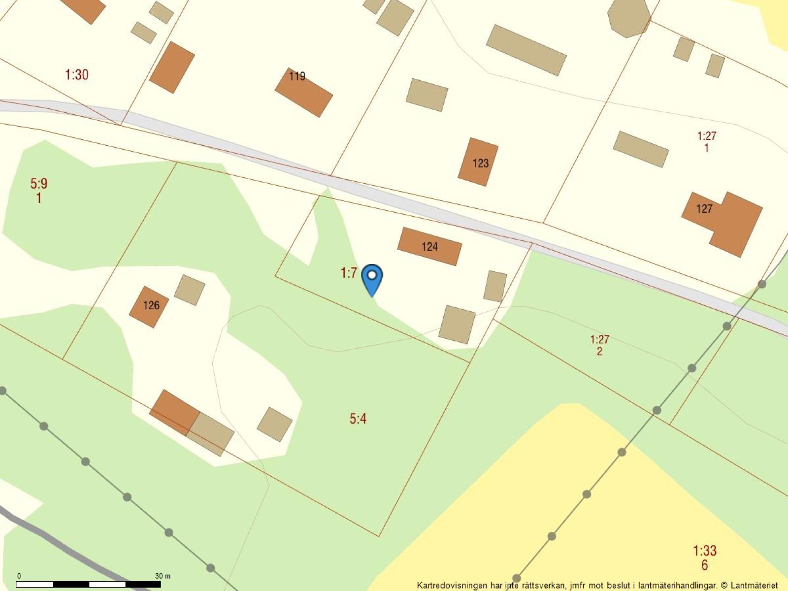 Fastighetskarta Tåme 124