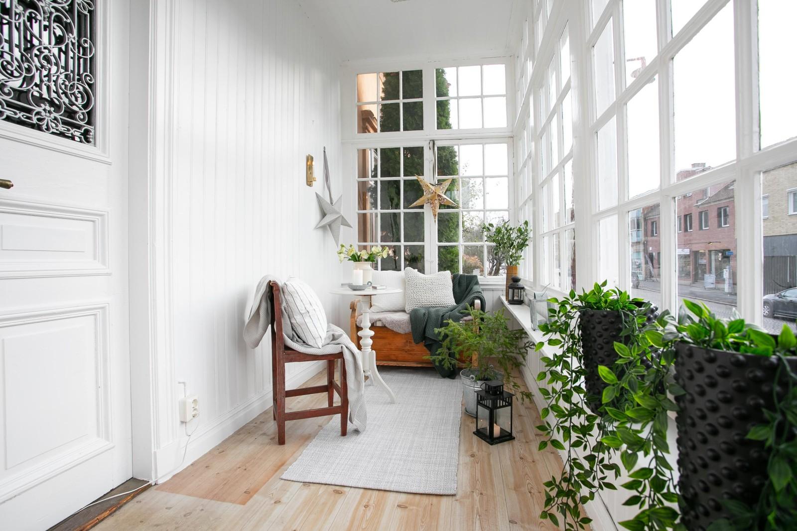 Inglasad veranda..