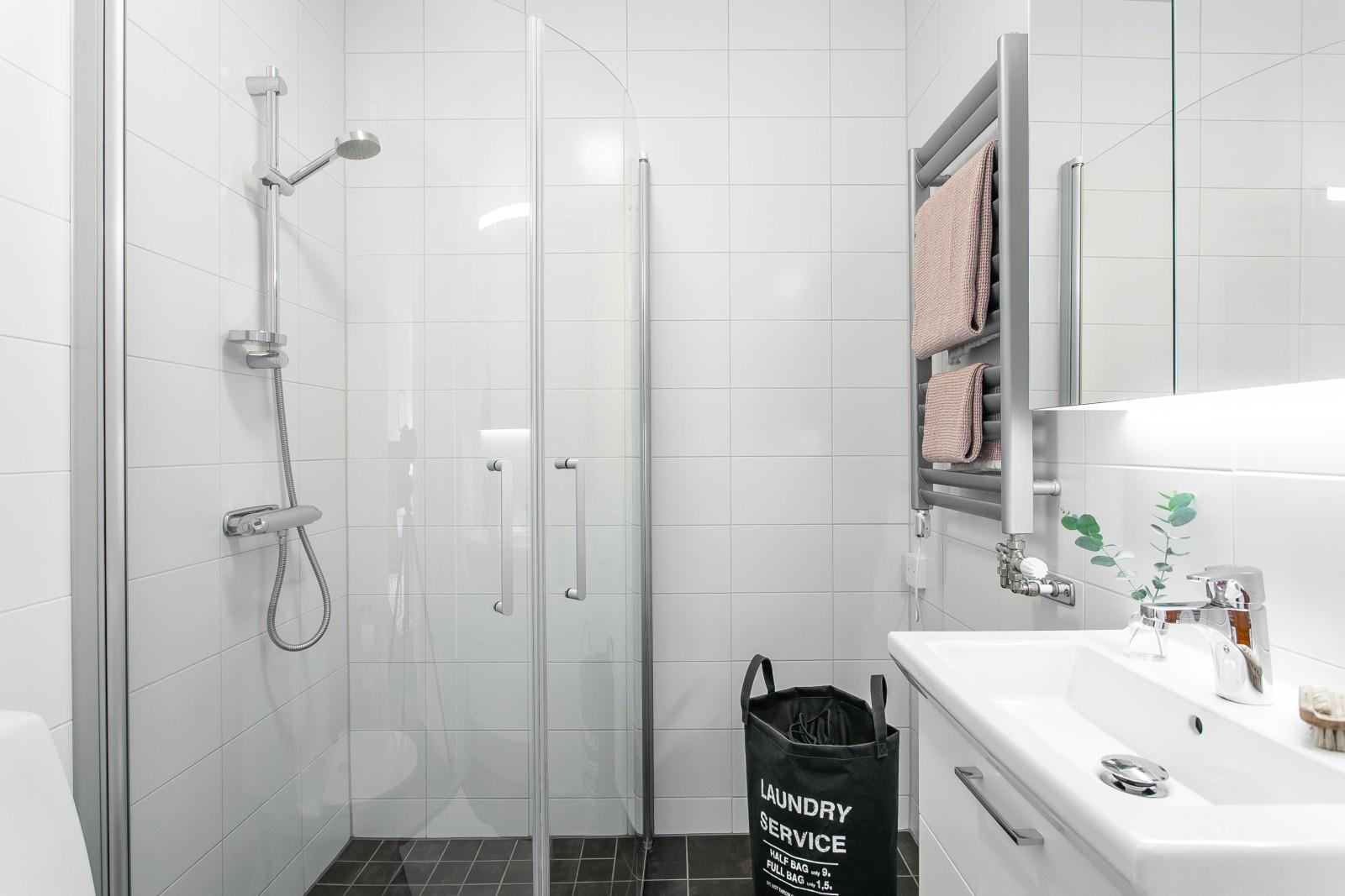 Duschrum vid sovrummen..