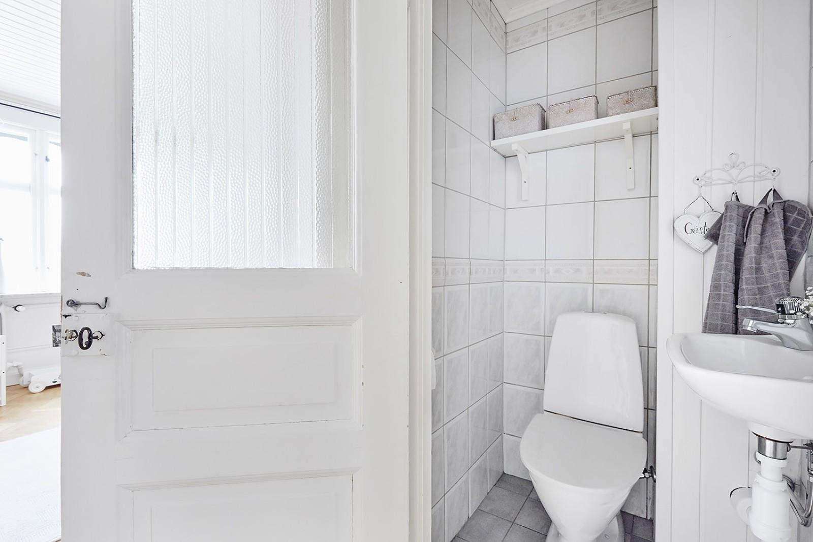 WC vid duschrummet..