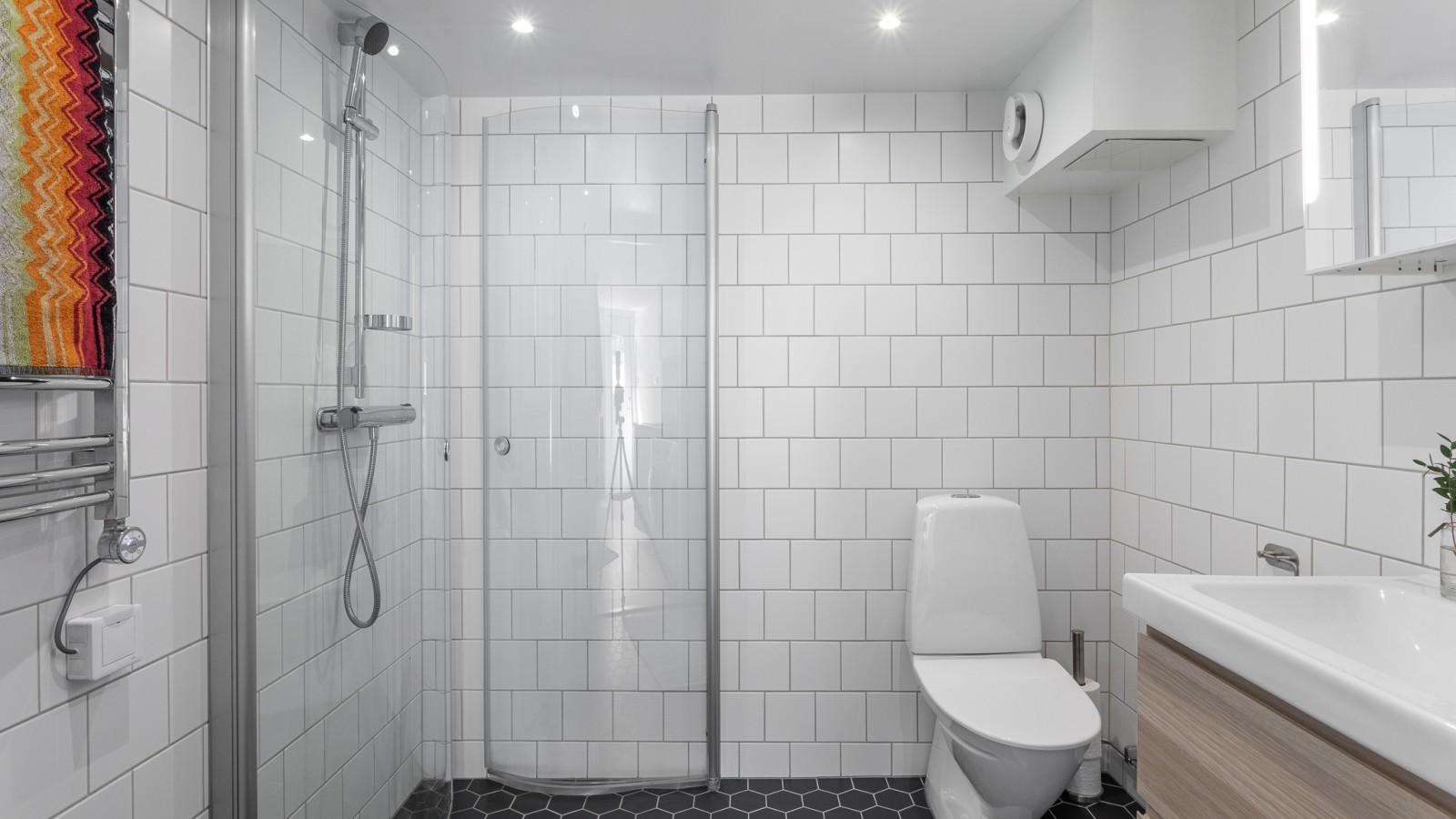 Badrummet på nedre plan..