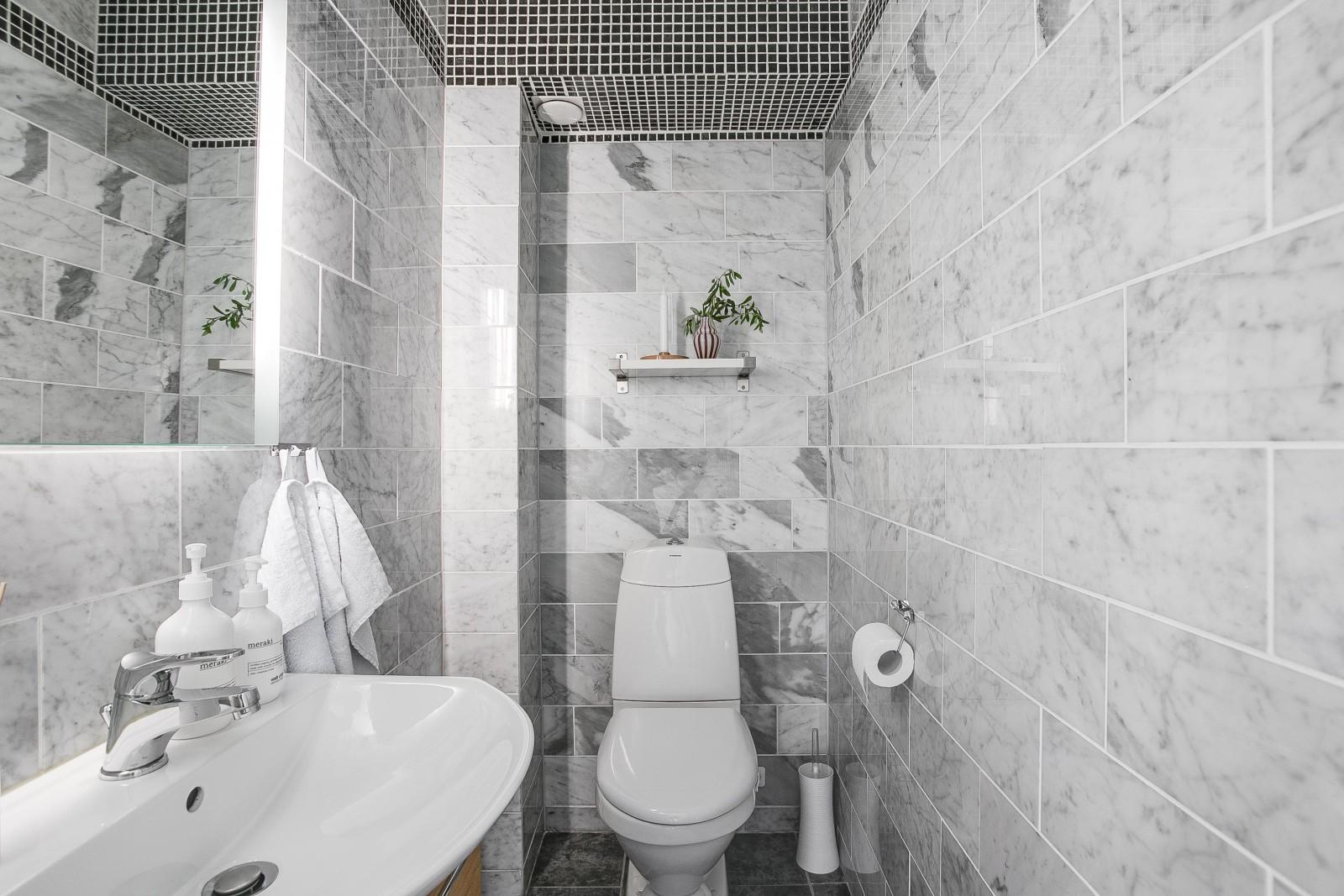 Gäst-WC i entréplan..