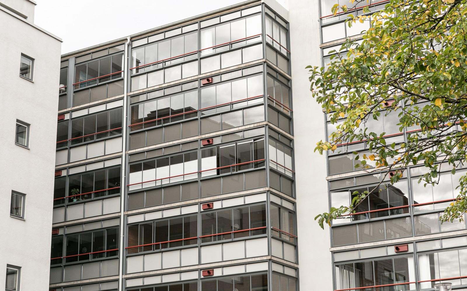Inglasad balkong..