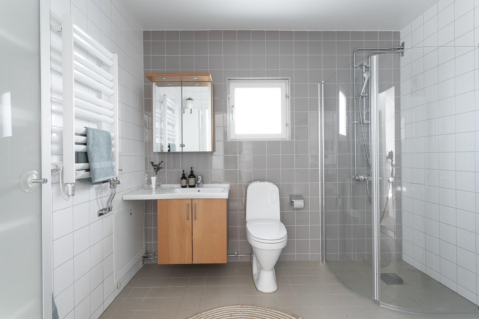 Stora duschrummet..