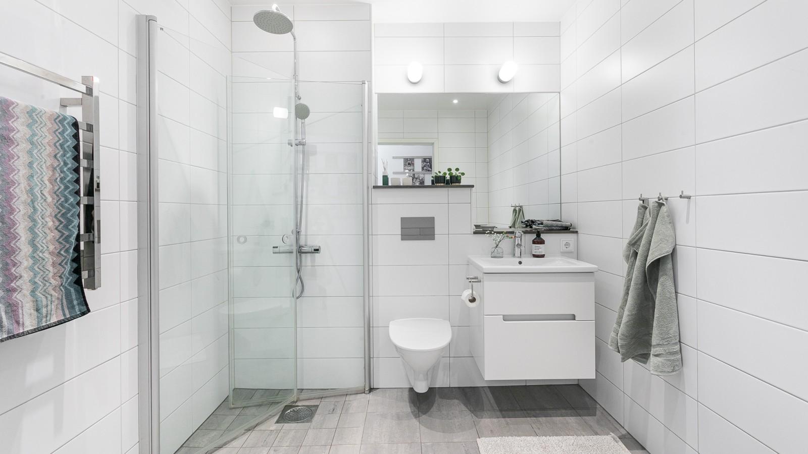 Badrummen och tvättstugan..