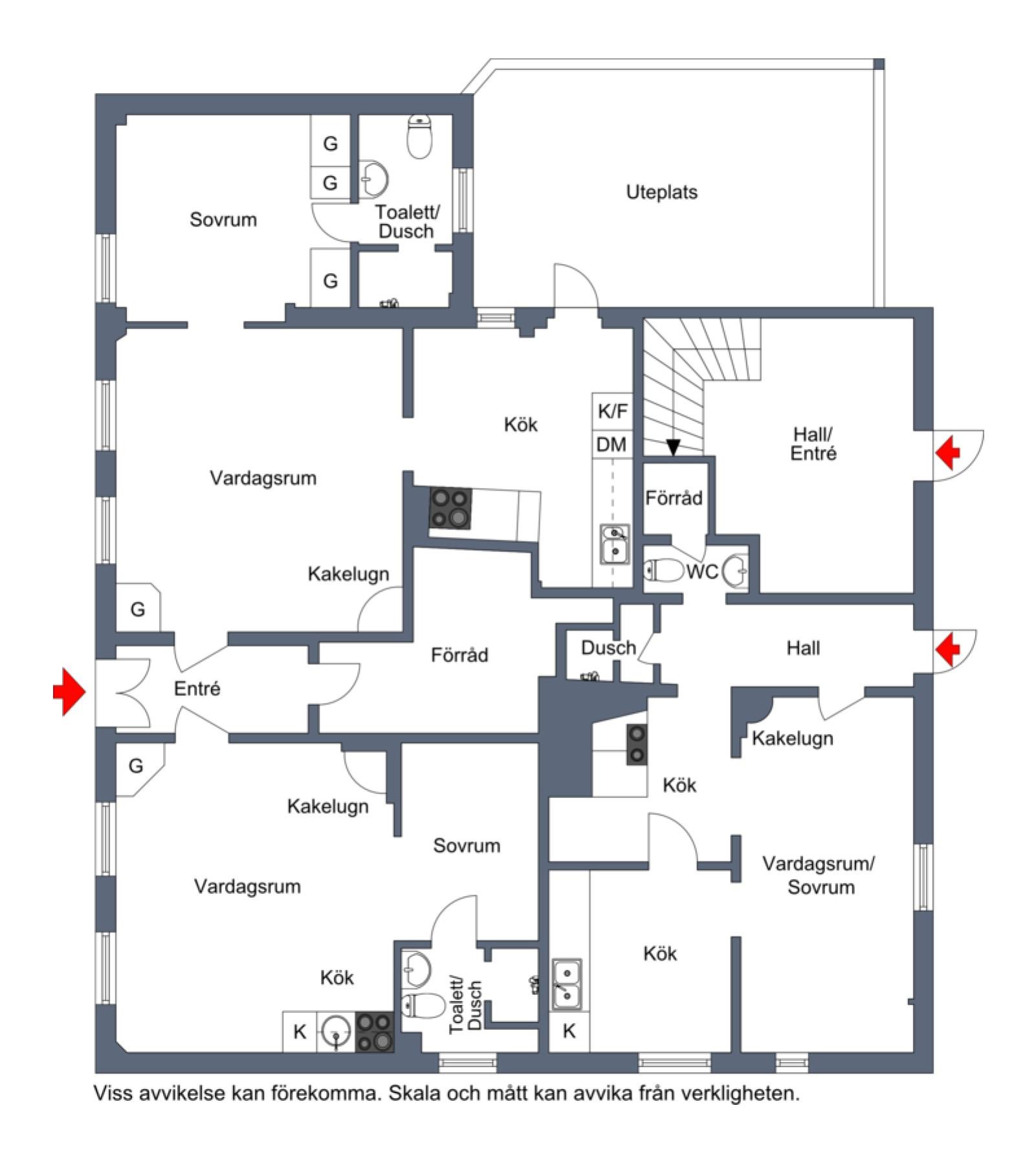 Nedre plan närmast Vårdklockegatan Vårdklockegatan 6 och 8