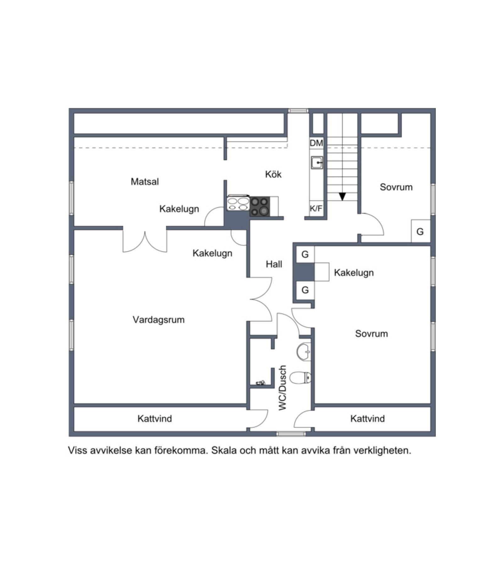 8 Övre plan Vårdklockegatan 6 och 8